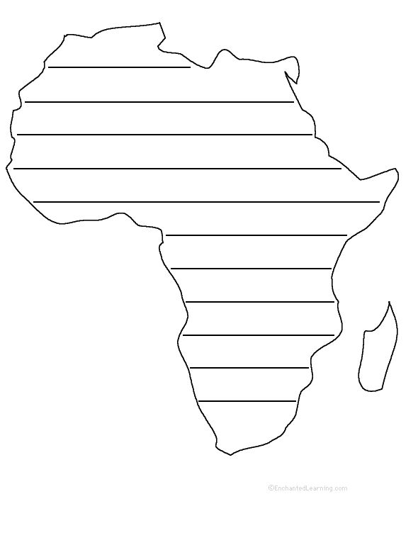 Africa shape poem plus other activities and worksheets