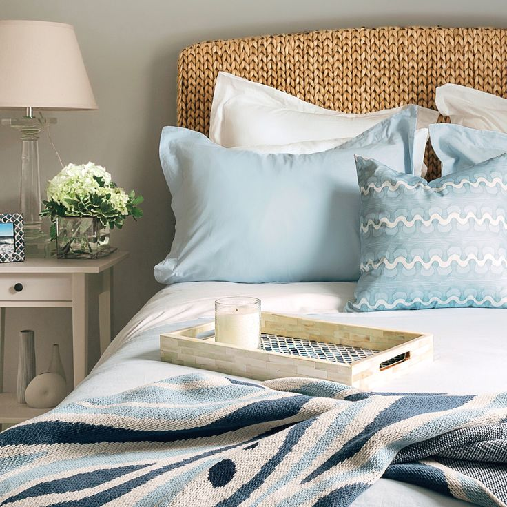 Create your own home oasis. Shop beach-inspired sheets, shams, and pillows.