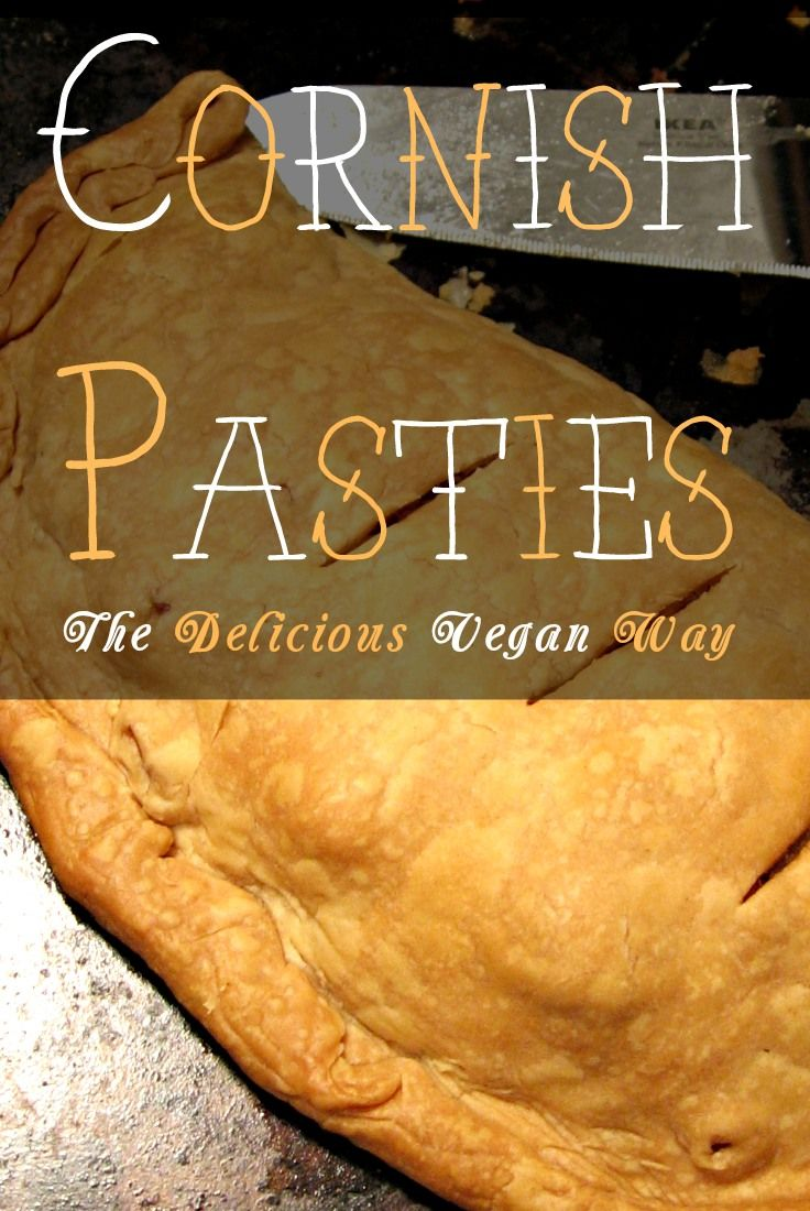 Vegan pasty- I'd add turnip and maybe a vegan beef substitute. But the recipe seems pretty solid as-is.