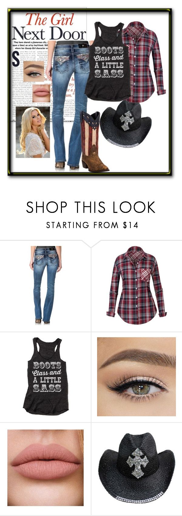 """Barn warming"" by jennisonklichfield ❤ liked on Polyvore featuring Miss Me and Laredo"