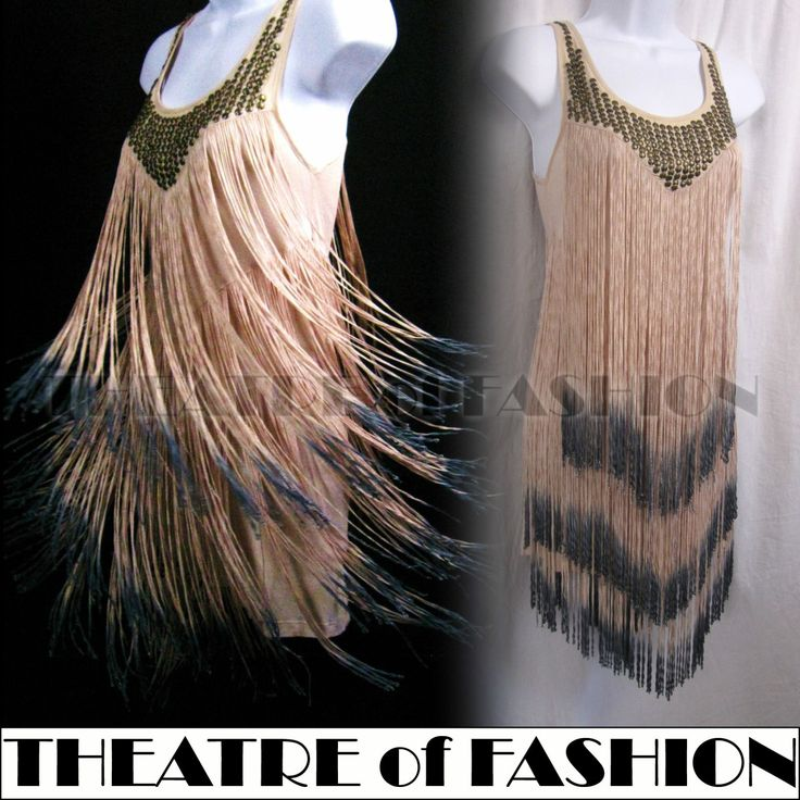 TOPSHOP Vintage 20s Flapper Dress Fringe Gatsby Jazz Age Charleston Tassel Deco   eBay