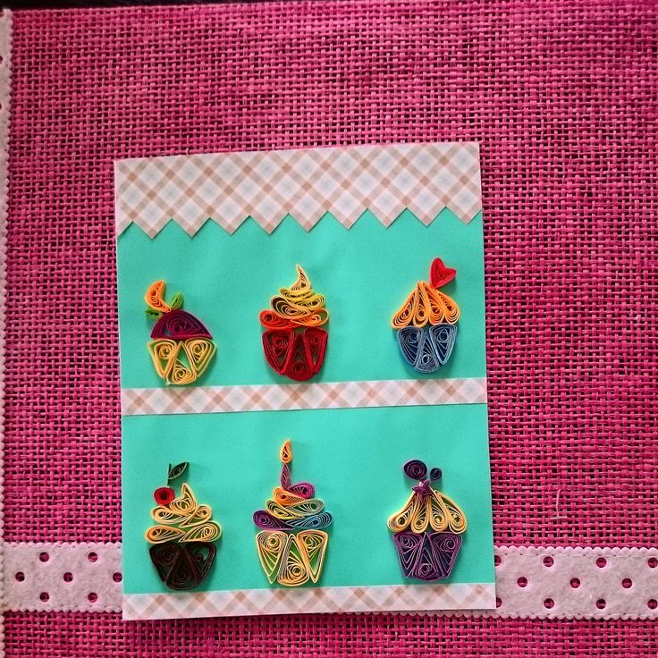 Cupcakes Quilling