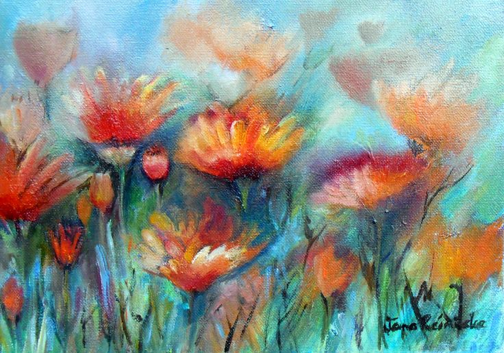 Spring Flowers.oil on canvas