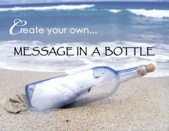 Wedding Invitations - Message in the Bottle: Sending A Message in a Bottle of Love, Hope, Thanks. | Harrison family pictures❤ | Beach, Ocean beach, Seaside