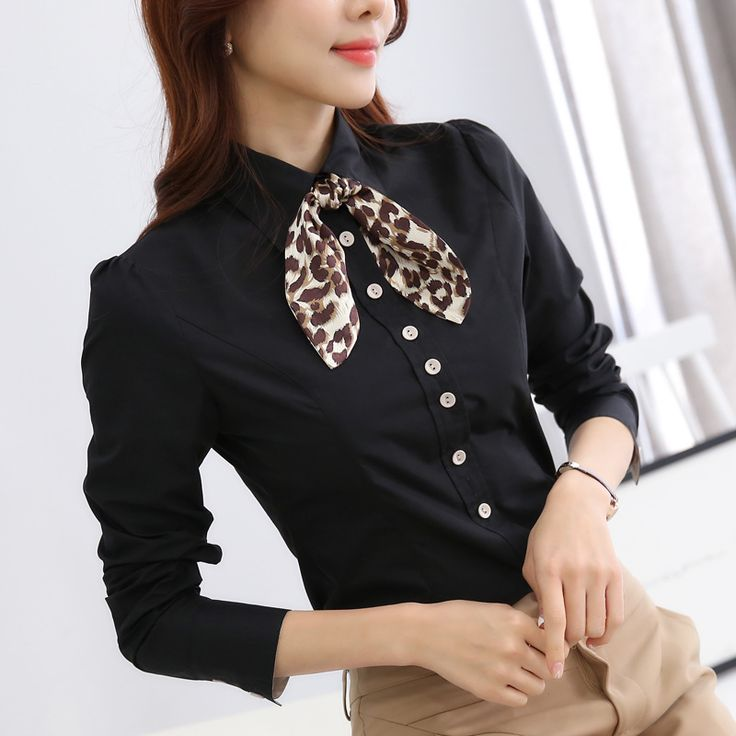 >> Click to Buy << New 2017 Women's Shirt Long Sleeve Black Blouse Tops Ladies Office Blouse Camisa Mujer OL Work Wear Blouses And Shirts #Affiliate
