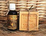 Naturalny zestaw dla suchej, mało jędrnej skóry  Olejek Arganowy BIO + mydło Arganowe Marsylskie (Argan oil BIO & Argan Marsylian Soap)
