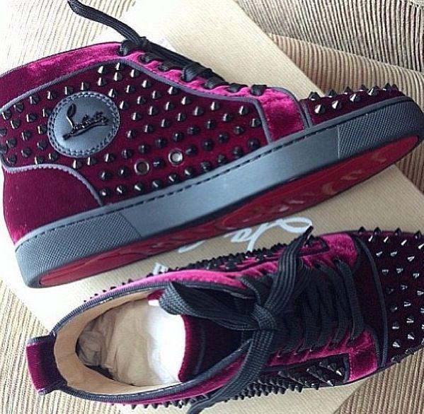 Velvet Christian Louboutin Sneakers