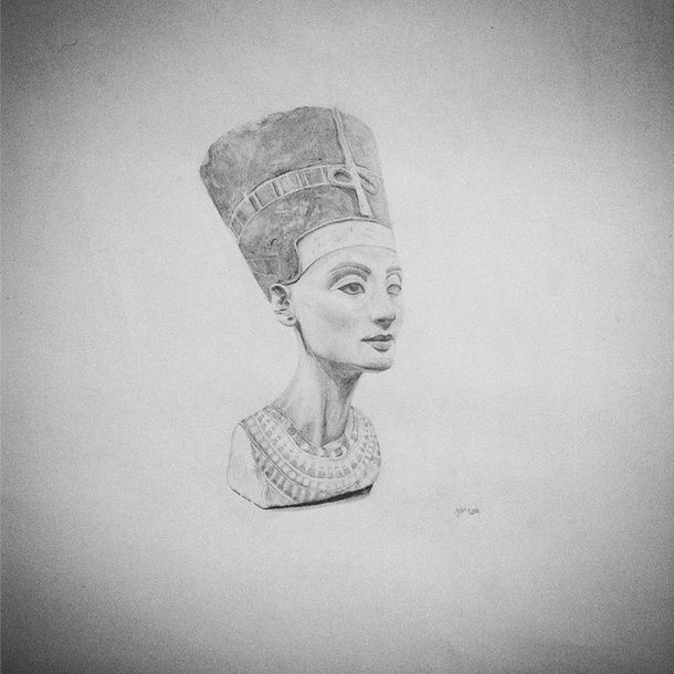 #Nefretete #rysunek #Nefertiti #Berlin #Germany #NeuesMuseum #draw #drawing #drawings #art #paint #painting #pencil ✏️✌️