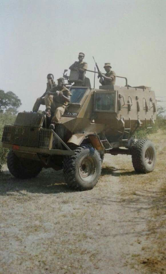 202 Batallion troops on a Buffel.