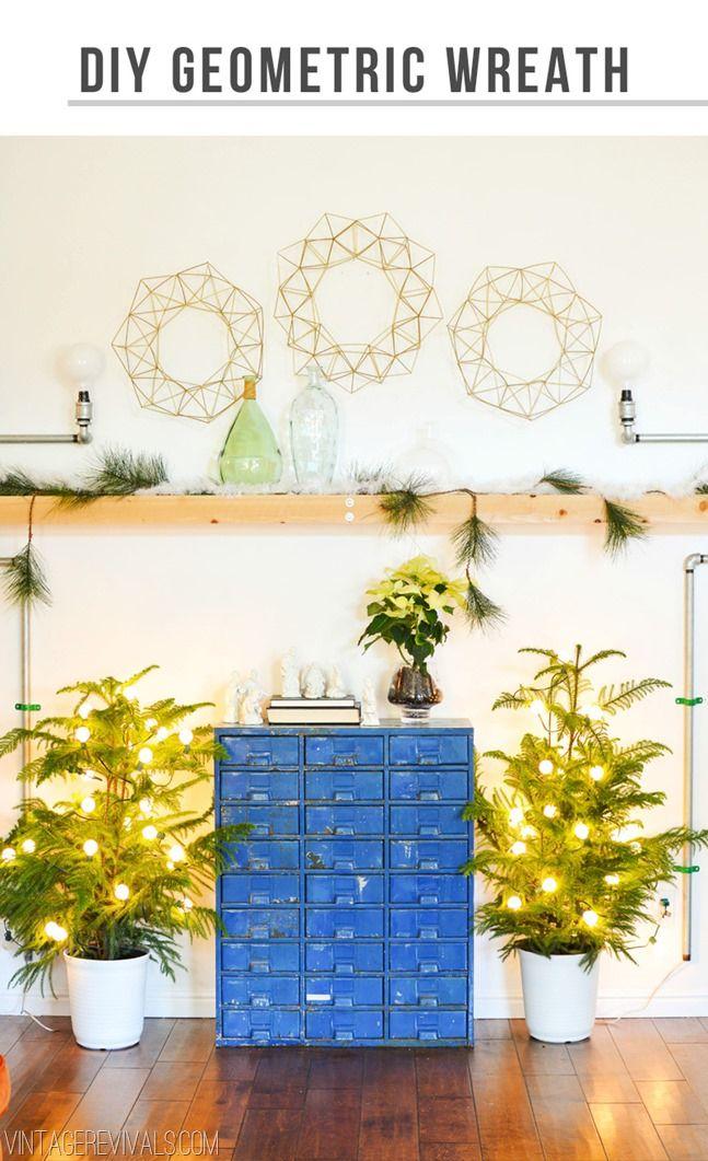 DIY Geometric Wreath Tutorial - Vintage Revivals
