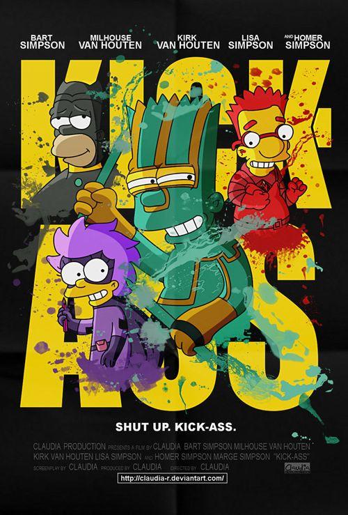 Posteres de filmes com Os Simpsons