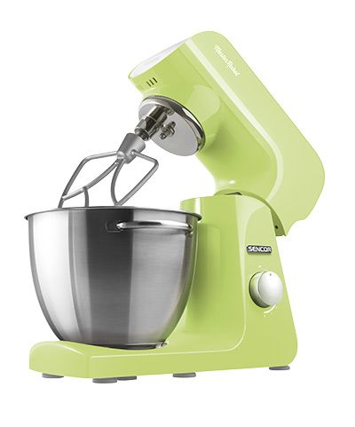 Sencor STM 47 GG stand mixer It is the color of juicy citrus — jubilant and playfully refreshing. It makes you want to get right to work and bring the fragrance of spring to your kitchen. It embraces your family day by day, slows down time, and relieves your stress. I have a heart of steel, I'm driven by a reliable 1000W motor, and your wish is my command.