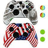 Amazon.com: NDAD Full Body Golden Protective Vinyl Skin Decal For Xbox one Console and 2PCS Xbox one Controller Skins Stickers: Video Games