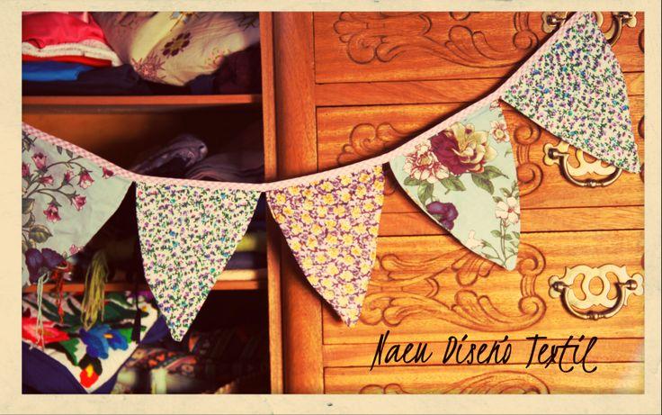 Banderines en tela, ideales para decorar espacios y darles toques de personalidad!
