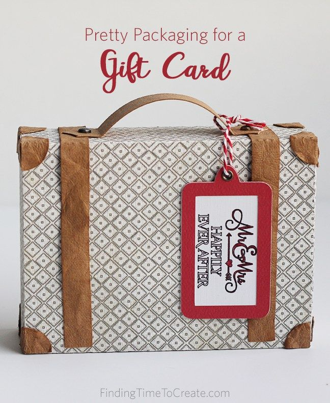 Pretty Packaging for a Gift Card - FInding Time To Create