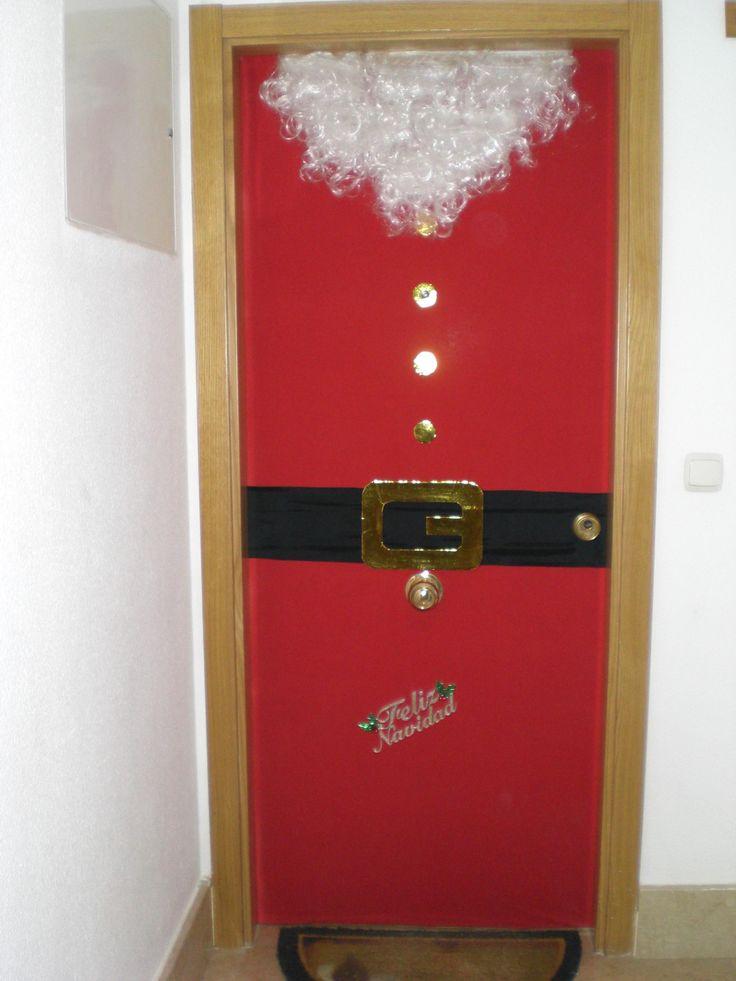 M s de 25 ideas incre bles sobre puerta navidad en for Puertas decoradas santa claus