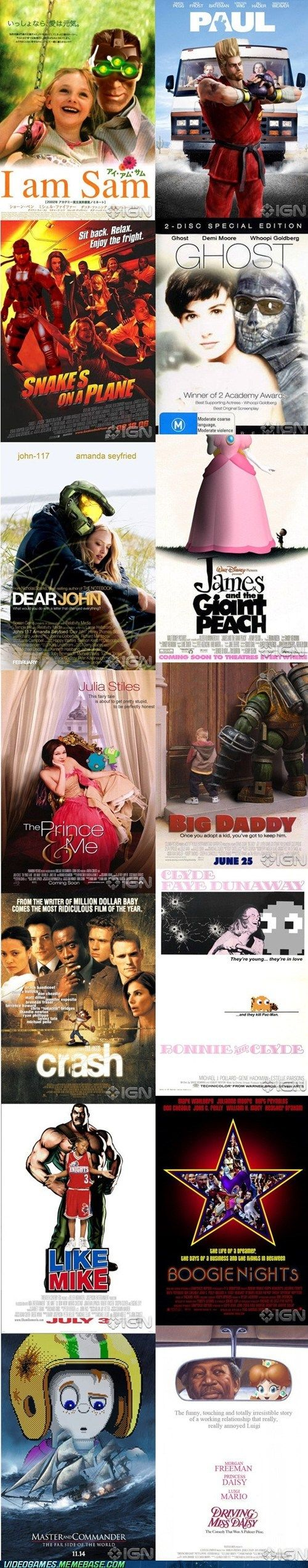 #Videogames x #MoviesPosters