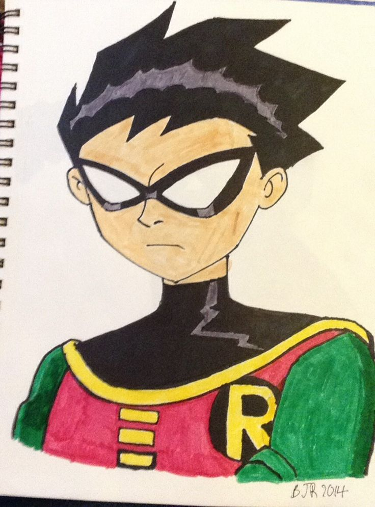 Robin From Teen Titans  My Drawings  Teen Titans Robin -3337