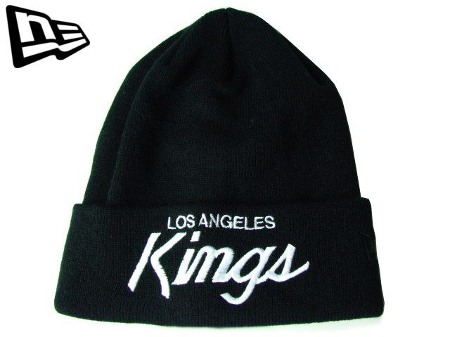 【ニューエラ】【NEW ERA】ニットキャップ NHL LOS ANGELES KINGS CUFF KNIT カフ(折り返し)タイプ ブラック【BLACK】【BEANIE】【newera】【帽子】【new era】【ニット帽】【黒】【NEロゴ】【ワッチキャップ】【ロサンゼルス・キングス】【LA】【楽天市場】