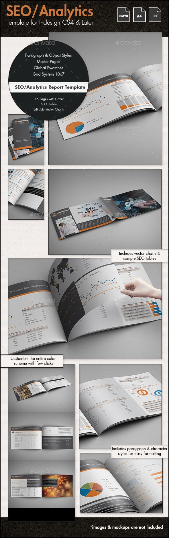 SEO Report / #Proposal Template - A4 Landscape - Proposals & #Invoices Stationery Download here: https://graphicriver.net/item/seo-report-proposal-template-a4-landscape/14347214?ref=alena994