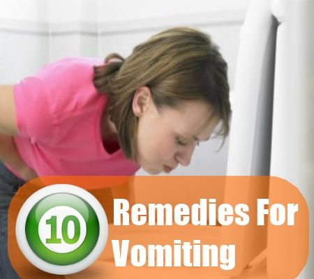 10 Home Remedies For Vomiting