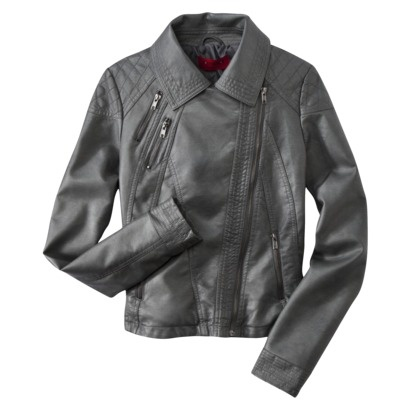 Coffee Shop Juniors Side Zip Leather Jacket - Assorted Colors.Opens in a new window