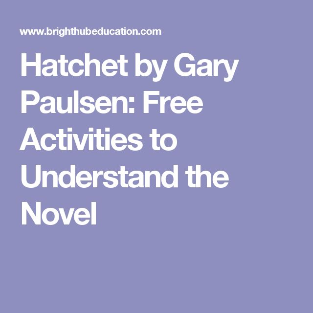 an analysis of the hatchet by gary paulsen Hatchet english 7th grade the palmas avademy learn with flashcards, games, and more — for free.