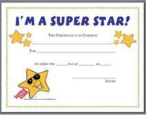 Blank Certificate Templates for Students | Star Certificate Template - This blank printable certificate template ...