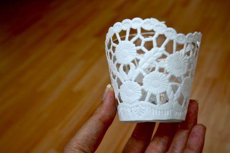 DIY – Teelichtglas trifft Kuchenbelag – Hochzeit
