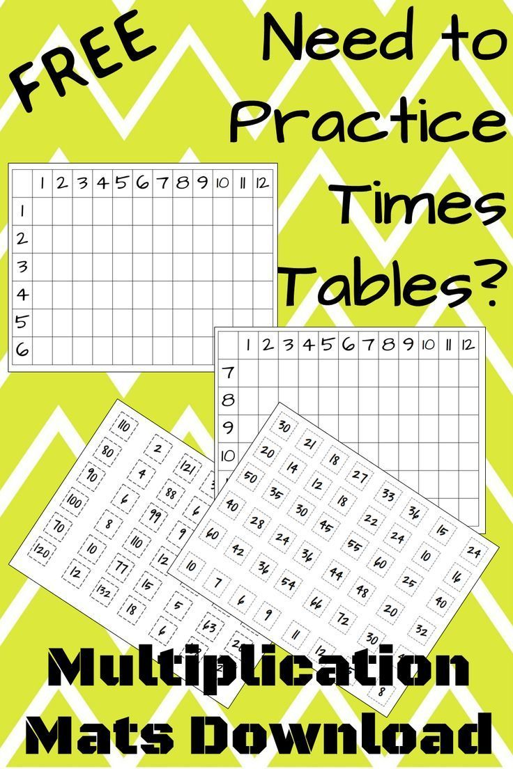Free multiplication tables practice cut out the cards - Practice multiplication tables ...