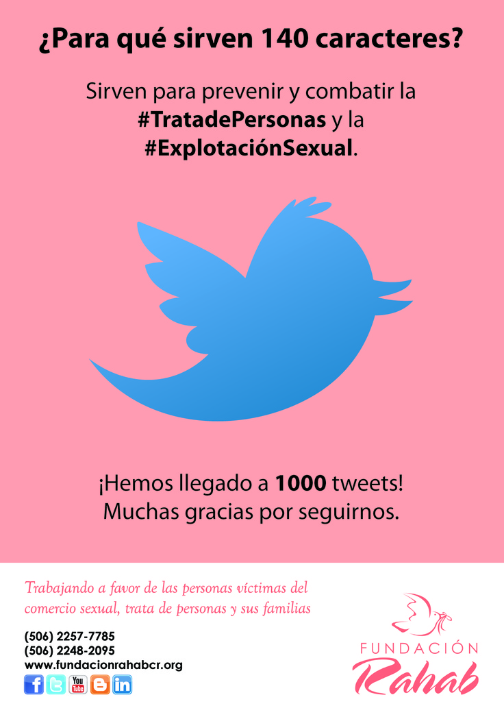 Publicación especial para redes sociales para celebrar el llegar a los 1000 tweet´s publicados en Twitter.