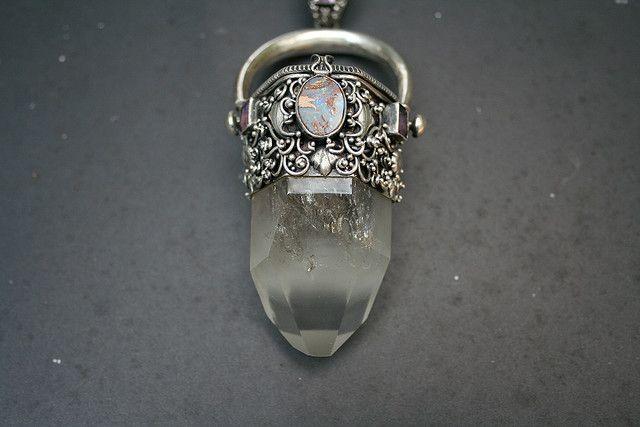 Opal , Silver. amethyst, Quartz point. I am in LOVE