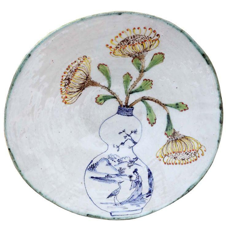 An original ceramic work by Lisa Ringwood entitled: 'Pincushions in a vase (white large open bowl)', ceramic, d 36cm. For more please visit www.finearts.co.za #ceramic #LisaRingwood #Ceramicist #SouthAfricanArt #SouthAfricanArtist #ChineseCeramics #InteriorDesign #Decor #Decoration #Landscape #Fauna #Flora #Birdlife #VOCware