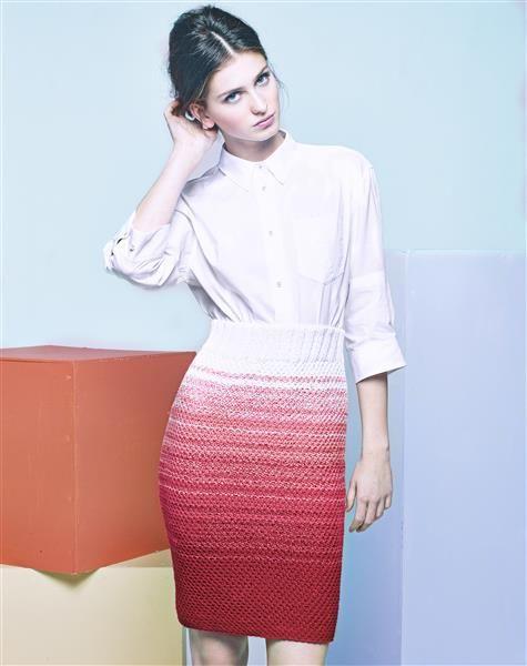 """Vol 4: Design 1 """"Olivia"""" skjørt #LeilaHafzi #SandnesGarn"""