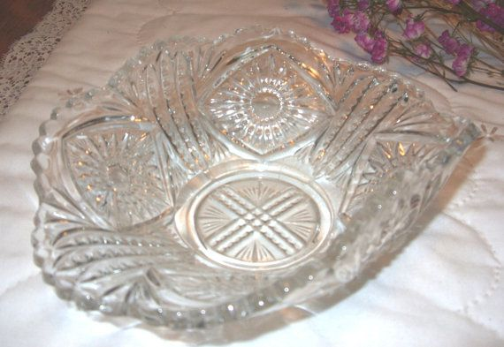 Early American Press Glass Tarentum Glass by TimelessAndTreasures $18.00