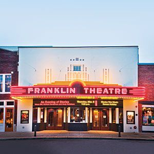 Find It All In Franklin: Just a Few Miles South of Nashville, this small town holds more than 70 shops, restaurants, and music venues--all within 16 blocks.  Here's how to make a day of it.  Franklin Theater