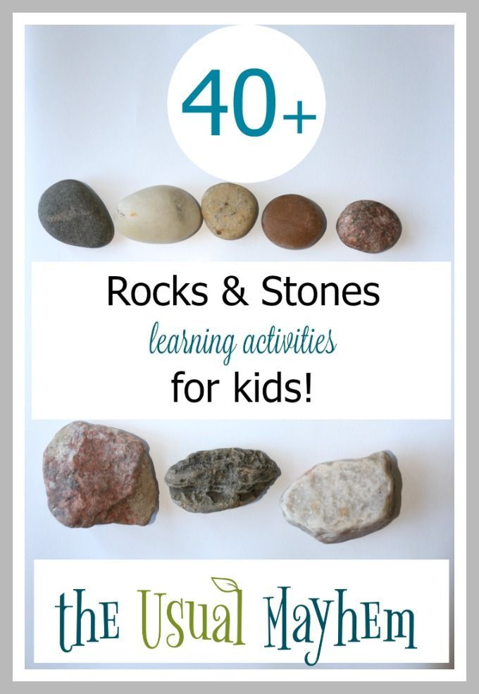 More than 40 rocks and stones learning activities for kids! Great as natural manipulatives and for hands-on learning ideas.