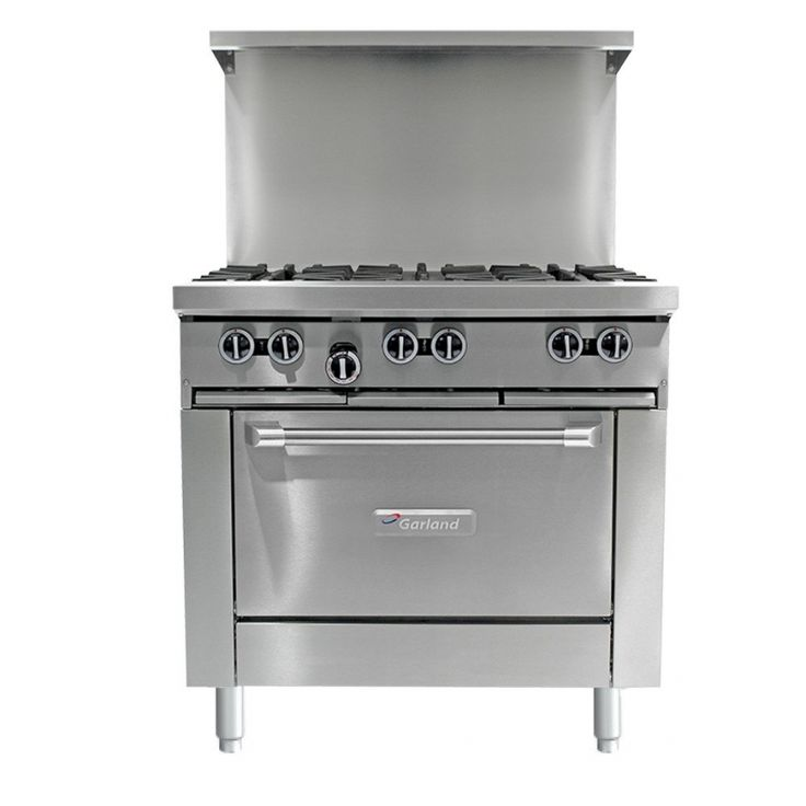 Wreathe G36-6C 6 Burner 36 Gas Range with Convection Oven