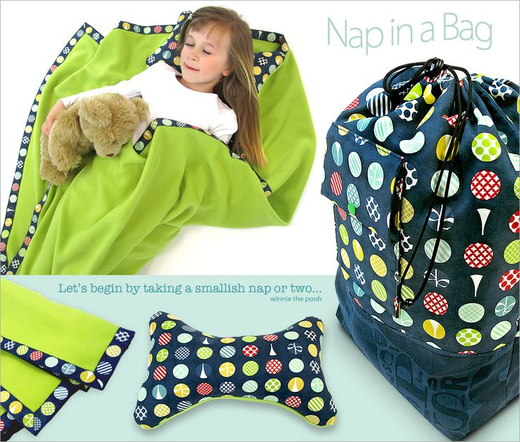 Nap in a Bag: Blanket & Pillow in a Matching Bag | Sew4Home