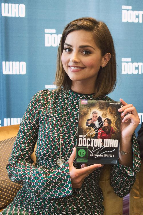 Jenna promoting Series 8 Doctor Who on Bluray at the Apple Store in Berlin, Germany - 17 July 2015