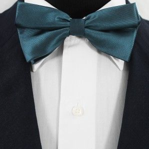 Midnight Blue Bow Tie Set / Wedding Bow Tie Set