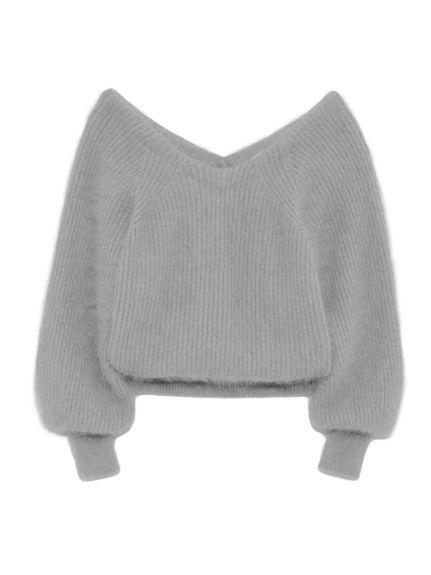 ファーライクタックニットプルオーバー(ニット)|snidel(スナイデル)|ファッション通販|ウサギオンライン公式通販サイト