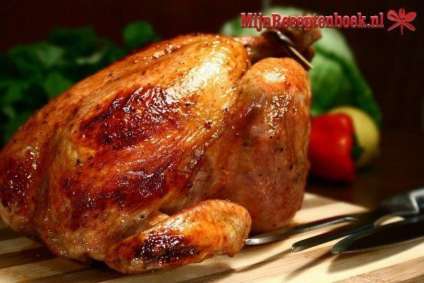 Gebraden kip met oregano, knoflook en citroen recept