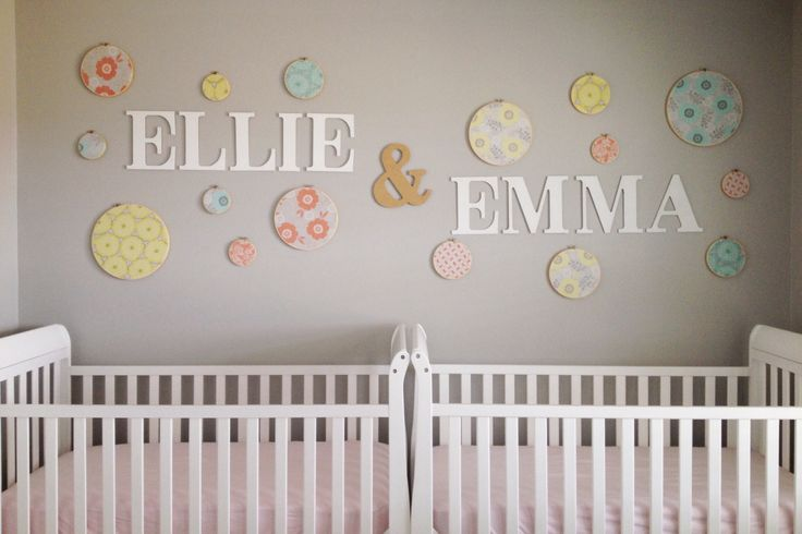Twin girls nursery