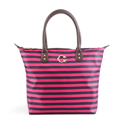 Striped tote: Nylons Totes, C Wonder Bags, Totes Bags, Stripes Nylons, Shops Baskets, Cwonder, Easy Totes, Stripes Totes, Nylons Easy