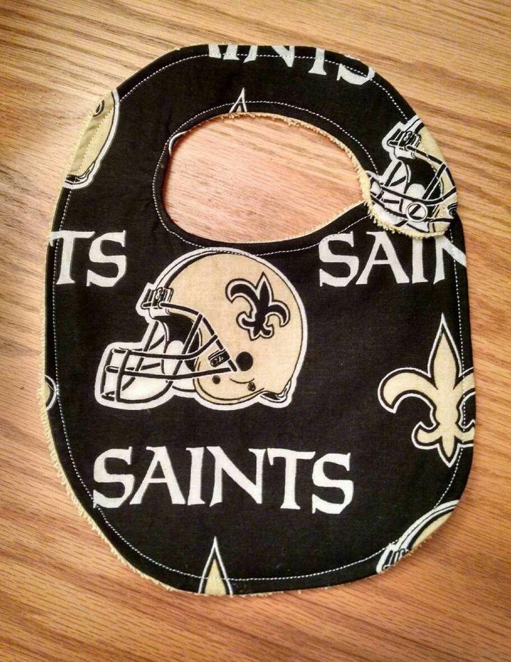 New Orleans Saints Inspired Football - Bib or Burp Cloth