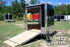 NEW 8.5 X 24 Enclosed Cargo Snowmobile Toy Car Hauler Landscape Trailer w/Rampsheavy equipment trailers apply now www.bncfin.com/apply