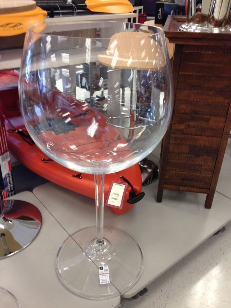 A 5 foot tall wine glass! YES PLEASE! | Reasons to Shop ...
