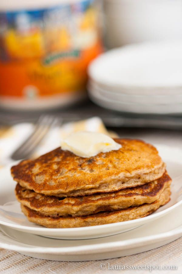 Oatmeal Cookie Pancakes #Healthy #Skinny #Recipe #Breakfast #Pancakes ...