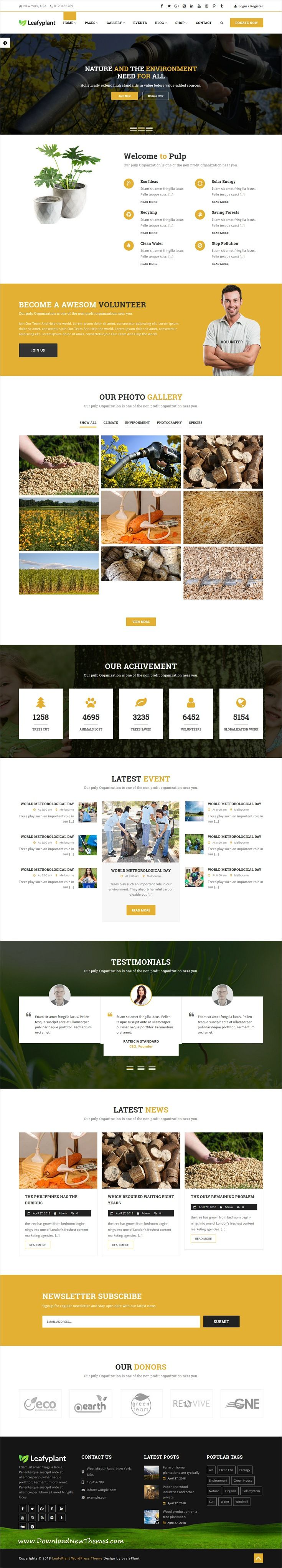 LeafyPlant is a clean and modern design 7in1 responsive multipurpose environment #WordPress template for #biodiesel, gardening, #recycle industry and …
